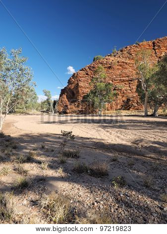 Gap in the MacDonnell ranges outback Alice Springs