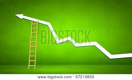 Conceptual image with ladder