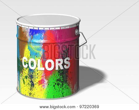 Paint Color Bin