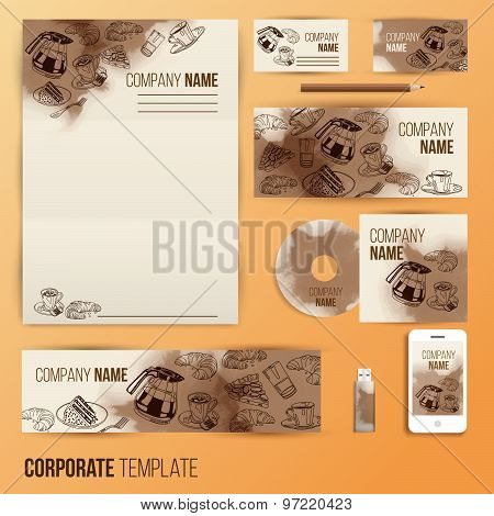 Corporate identity business set design.