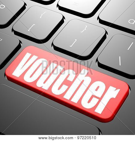 Keyboard With Voucher Text