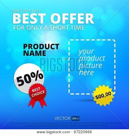 Vector sale background. Best offer.