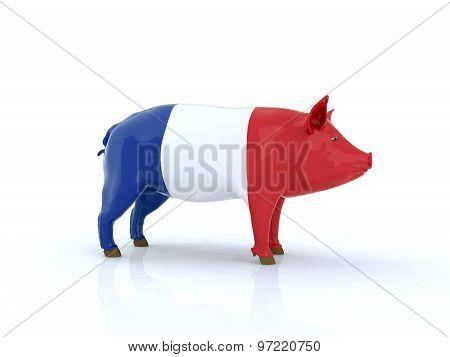 3D Pork French Flag