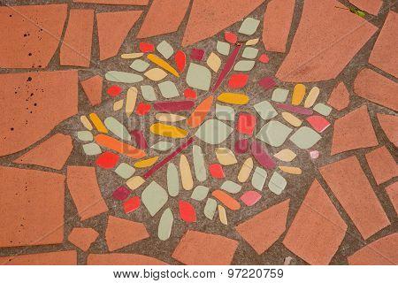 Ceramic broken tile