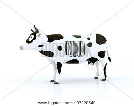 Cow With A Barcode