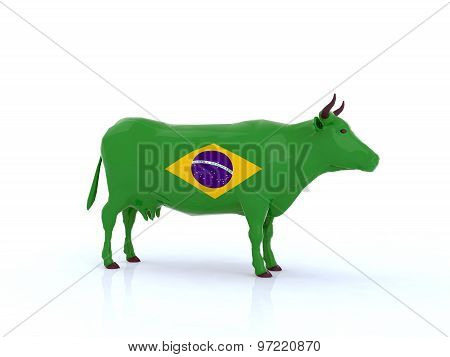 Brazilian Cow 3D Illustration