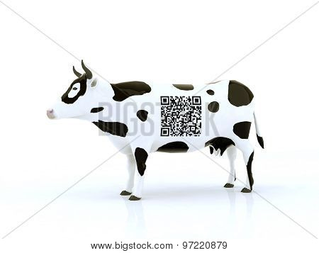 Cow With A Qr Code