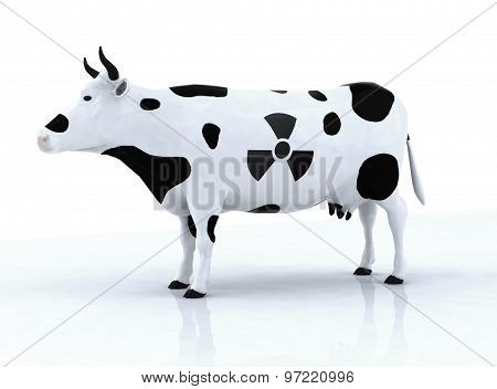 Cow With A Radioactive Symbol