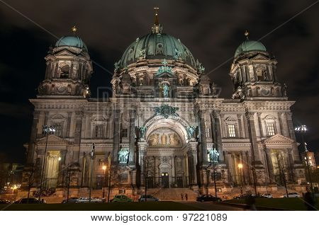 Berlin Cathedral At Night