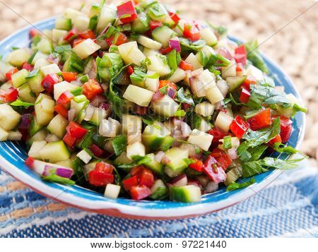 Cucumbers And Peppers Salad