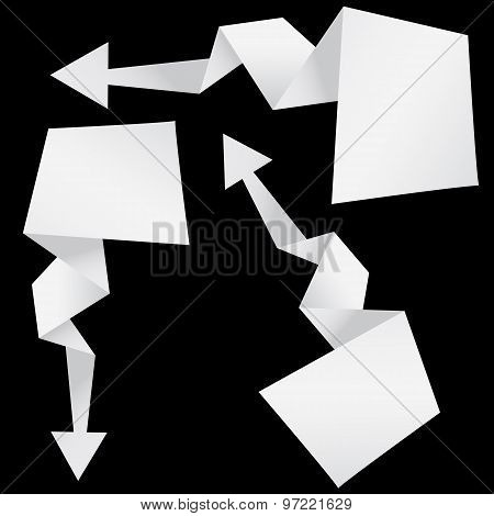 Abstract Origami Arrow.