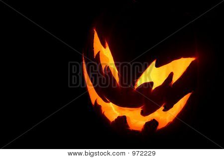 Spooky Pumpkin Face