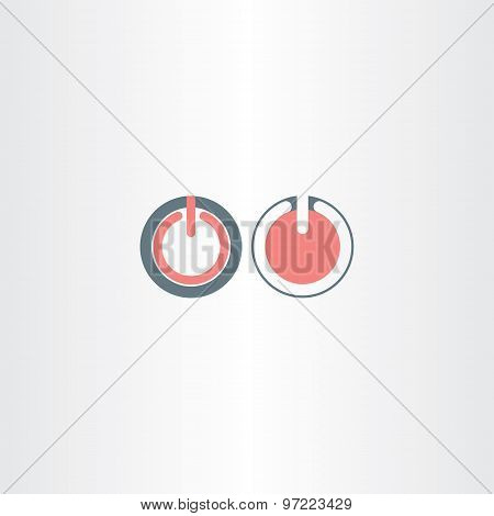 Two Power Start Symbols Vector Icons