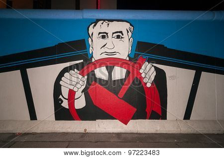 East Side Gallery - Gorbachev