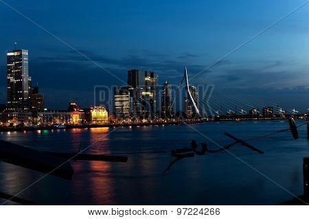 Erasmus bridge. Rotterdam.