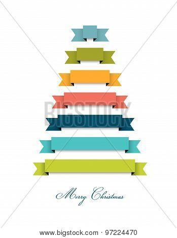 Stylized Flat Christmas Tree.