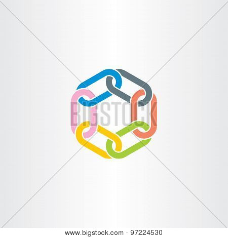 Chain Link Vector Symbol Design Element