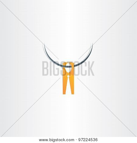 Clothespin Icon Vector Symbol
