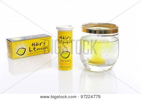 Hairy Lemon Efferfescent Dietary Supplement Vitamin Energy Recov