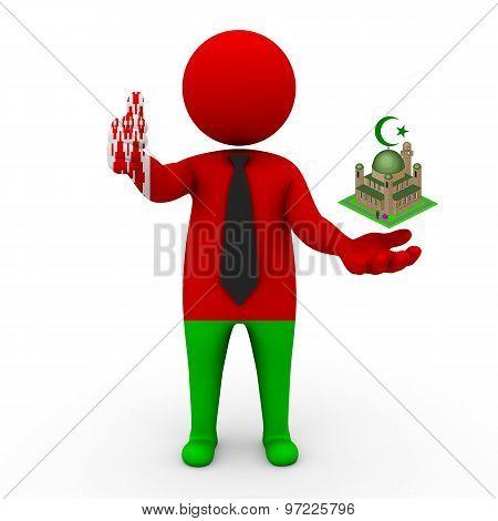 3d businessman people Belarus - Muslim mosque and Islam in Belarus