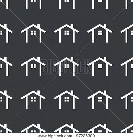 Straight black cottage pattern