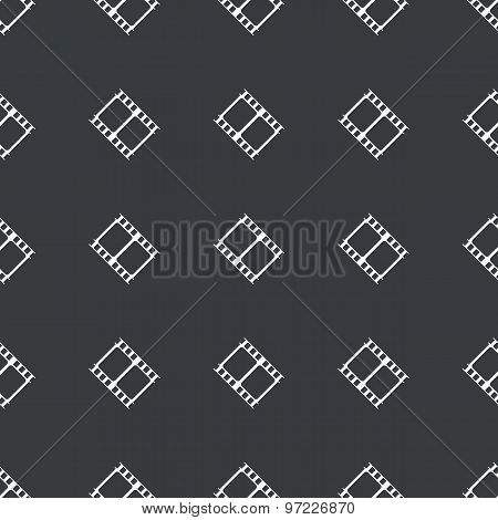 Straight black film strip pattern