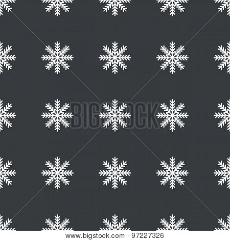 Straight black snowflake pattern