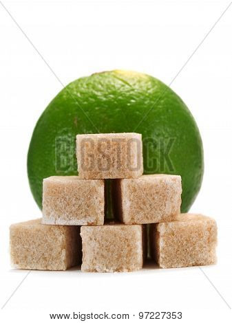 Lime And Brown Sugar Cubes