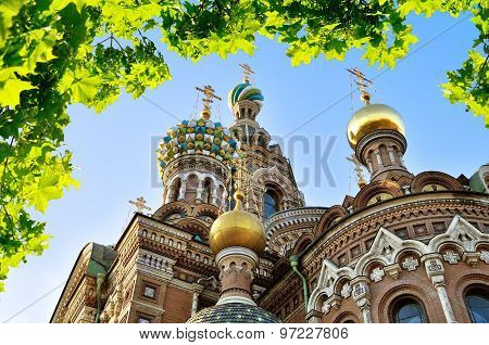 Closeup Of Cathedral Of Our Saviour On Spilled Blood, St. Petersburg