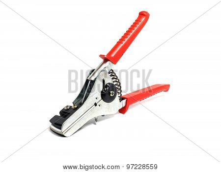 Solid Insulation Stripper On A White Background