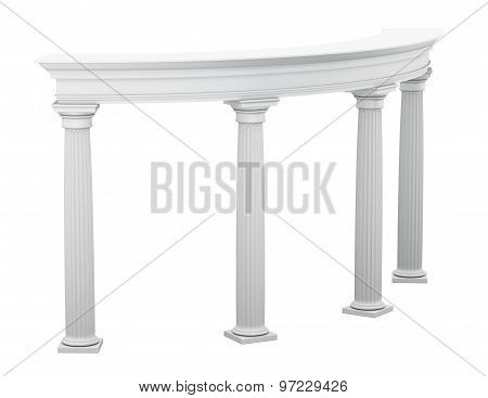 Columns In The Classical Style On A White Background