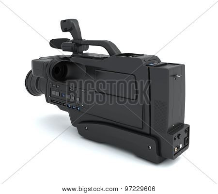 Camcorder On A White