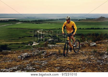 Mountain Bike cyclist riding outdoor