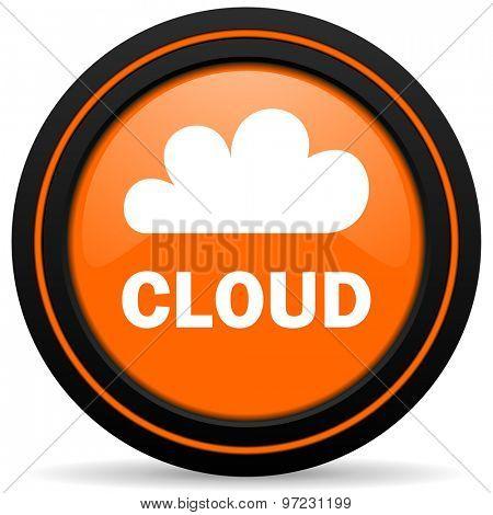 cloud orange icon