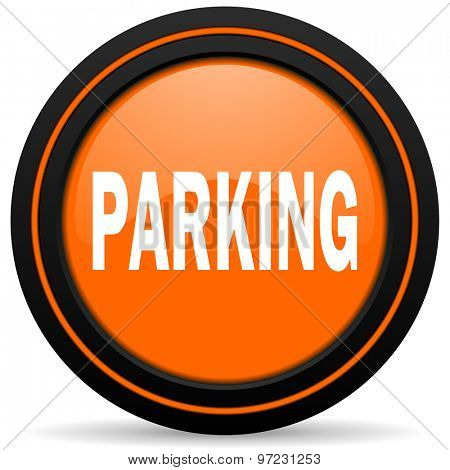 parking orange icon