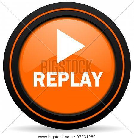replay orange icon