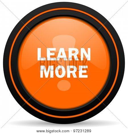 learn more orange icon