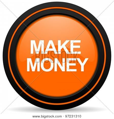 make money orange icon