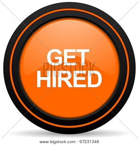 get hired orange icon