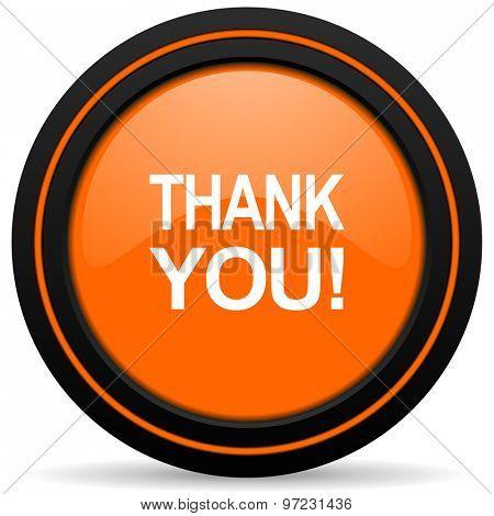 thank you orange icon