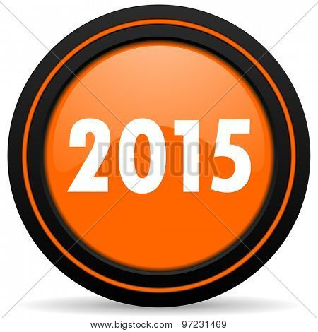 new year 2015 orange icon new years symbol