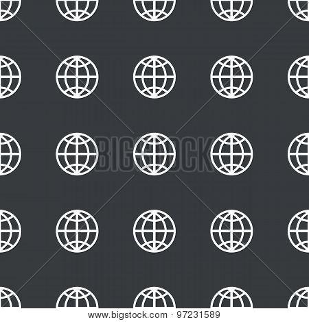 Straight black globe pattern