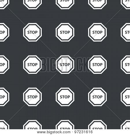 Straight black STOP sign pattern