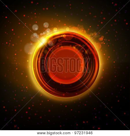 Abstract Hot Orange Glowing Ring Background