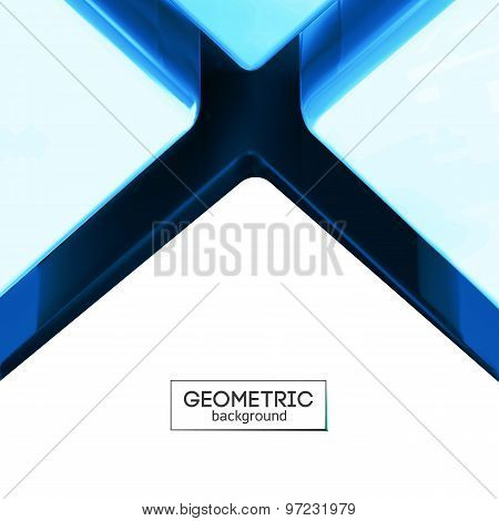 Blue Color Lighting Cross Crack Abstract Background