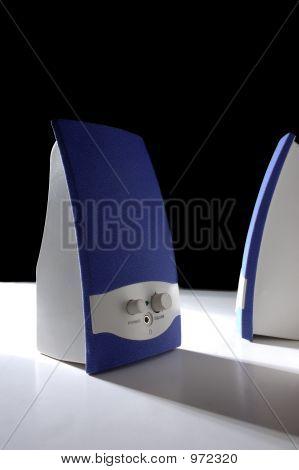 Blue Speakers