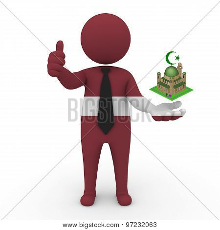 3d businessman people Latvia - Muslim mosque and Islam in Latvia