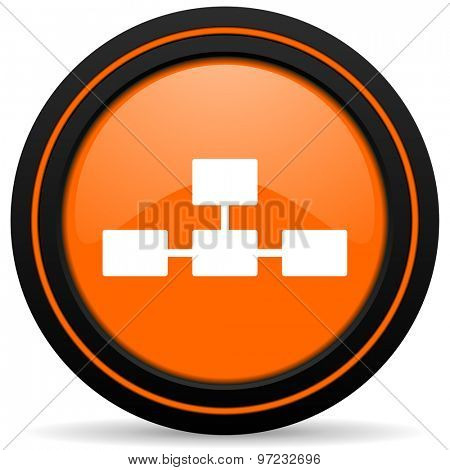 database orange icon