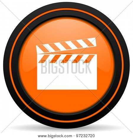 video orange icon cinema sign