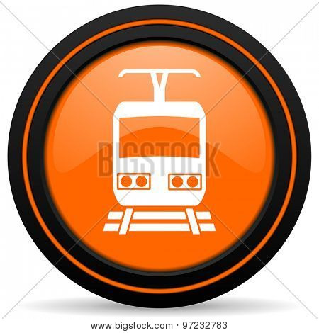 train orange icon public transport sign